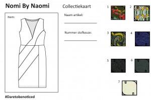 Collectiekaart jurk zonder mouw