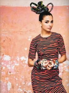 Publication: Linda fashion magazine SS 2015 ( Happy bangels) Georgina Verbaan